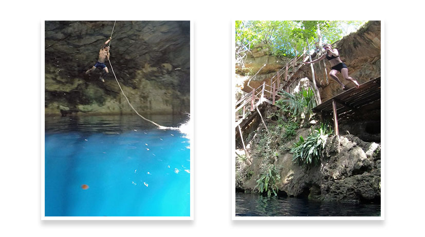 Yucatan Peninsula Cliff Jumps